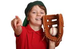 мальчик бейсбола Стоковые Изображения RF