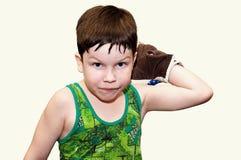мальчик бокса Стоковое Фото