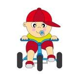 мальчик велосипеда младенца Стоковое Фото
