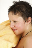 мальчик влажный Стоковые Фотографии RF