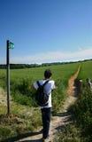 мальчик вне устанавливая прогулку Стоковые Фотографии RF