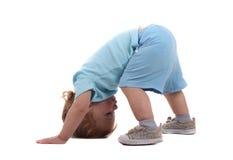 мальчик вниз меньшяя внешняя сторона Стоковые Изображения RF