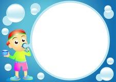 мальчик воздушного шара иллюстрация вектора