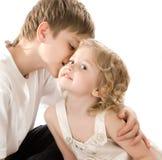 мальчик времени его втихомолку сестра 12 Стоковая Фотография RF
