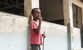 Мальчик в Занзибаре Стоковые Изображения