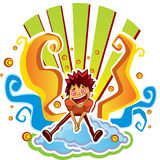 Мальчик в нирване Стоковое Изображение