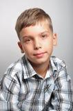 Мальчик в студии Стоковое Фото