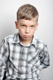 Мальчик в студии стоковые фотографии rf