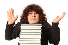 мальчик давая пожимание плечами Стоковые Фотографии RF