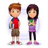 Мальчик & девушка иллюстрация штока