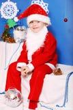 Мальчик Дед Мороз Стоковое фото RF