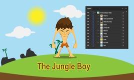 Мальчик джунглей иллюстрация вектора