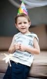 мальчик дня рождения Стоковые Фотографии RF