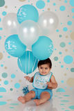 мальчик дня рождения Стоковое фото RF