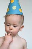 мальчик дня рождения Стоковое Изображение