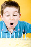 мальчик дня рождения стоковые изображения rf
