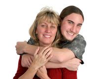 мальчик его мама предназначенная для подростков Стоковая Фотография RF