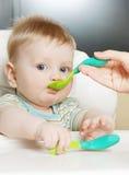 мальчик ест немного Стоковые Изображения RF