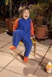 мальчик задворк счастливый Стоковые Фотографии RF