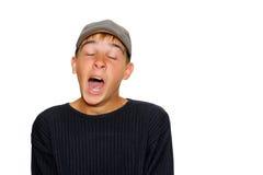 мальчик зевая Стоковая Фотография RF