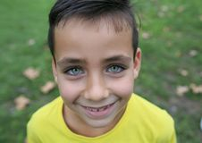 Мальчик зеленых глаз Стоковые Фотографии RF