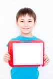 мальчик знамени вручает его Стоковые Изображения
