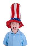 мальчик играет главные роли носить нашивок Стоковая Фотография RF