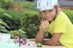 Мальчик играя игры Стоковые Изображения