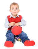Мальчик играя с игрушками Стоковая Фотография RF