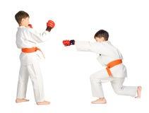 мальчик искусств aikido военный Стоковое Фото