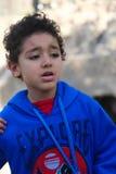 Мальчик испуганный от животного Стоковая Фотография RF