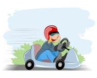 Мальчик и автомобиль Стоковое Изображение