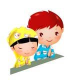 Мальчик и девушка Стоковое Изображение