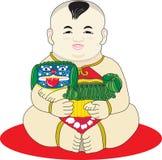 мальчик китайский oriental Стоковое Фото