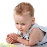 мальчик книги младенца стоковые изображения rf