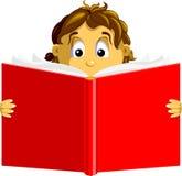 мальчик книги Стоковые Изображения RF