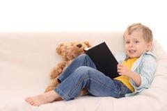 мальчик книги Стоковое фото RF