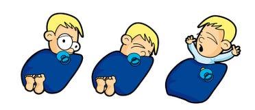 мальчик кровати Стоковое Фото