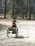 мальчик меньшее trike Стоковое Изображение