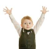 мальчик меньший костюм стоковое фото rf