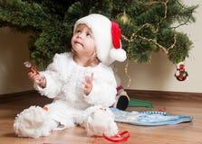 мальчик меньший новый год s Стоковые Изображения