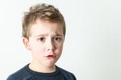 мальчик меньший портрет Стоковое фото RF