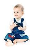 мальчик меньшяя белизна рубашки t Стоковое Фото