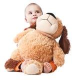 мальчик меньшяя игрушка Стоковое Изображение