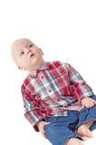 мальчик меньшяя студия Стоковая Фотография RF