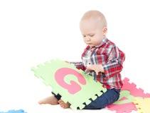 мальчик меньшяя студия Стоковые Изображения RF