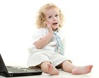 Мальчик милого молодого белокурого малыша еврейский стоковые изображения