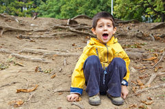 мальчик напольный Стоковые Фотографии RF