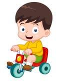 Мальчик на велосипеде Стоковые Фото