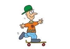 Мальчик на скейтборд Стоковая Фотография